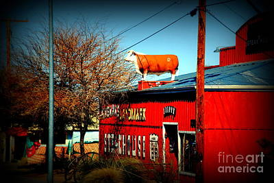 The Steakhouse On Route 66 Art Print by Susanne Van Hulst