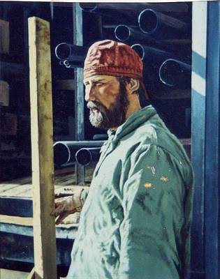 The Steamfitter  Art Print by James Guentner