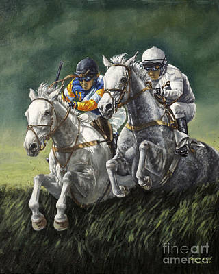 The Steeplechase Art Print by Thomas Allen Pauly