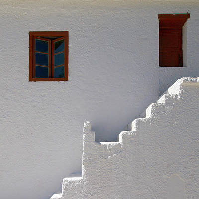 Jouko Lehto Royalty-Free and Rights-Managed Images - The Steps and the Window by Jouko Lehto