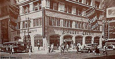 The Steuben Tavern In New York City C.1930's Art Print by Dwight Goss