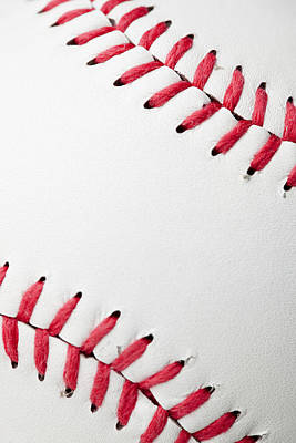 Y120831 Photograph - The Stitching In A Clean, New Baseball by Jill Fromer