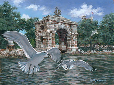 1000 Islands Wall Art - Painting - The Stone Arch by Richard De Wolfe