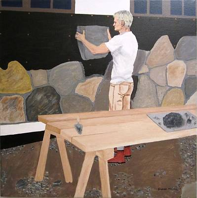 Stonewall Painting - The Stonemason by Steven Marland