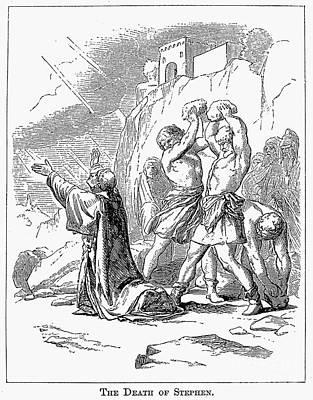 The Stoning Of St. Stephen Art Print by Granger