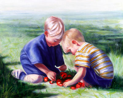 Painting - The Strawberry Kings by Shannon Grissom