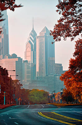 Cityscape Of Philadelphia Photograph - The Streets Of Philadelphia by Bill Cannon