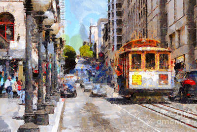 The Streets Of San Francisco . 7d7263 Print by Wingsdomain Art and Photography