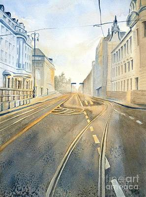 The Streets Of Zagreb  Art Print by Eleonora Perlic