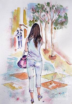 Painting - The Stroll by Mona Mansour Jandali