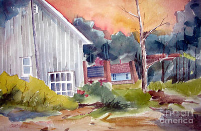 Old Barns Painting - The Studio by Charlie Spear