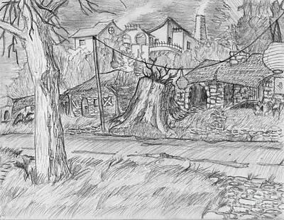 The Stump Art Print by Jonathan Armes