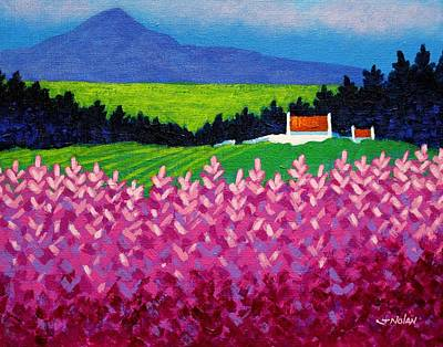 Christmas Greeting Painting - The Sugarloaf County Wicklow by John  Nolan
