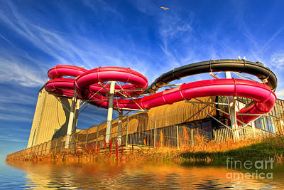 Water Play Photograph - The Sun Centre by Adrian Evans