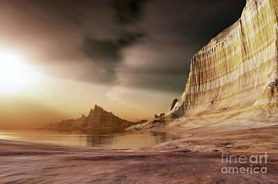 Beautiful Vistas Digital Art - The Sun Shines Down Upon A Lake by Corey Ford