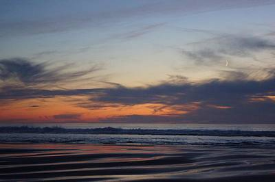 Photograph - The Sunset And The Moon by Angi Parks