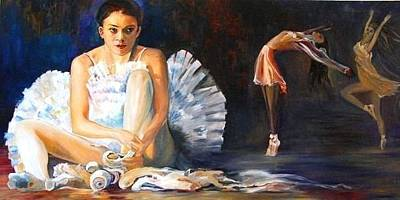 Painting - The Swan Lake Ballet by Parag Pendharkar