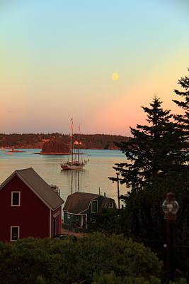 Photograph - The Swans Island Moon by Doug Mills