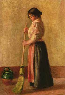 The Sweeper Print by Pierre Auguste Renoir