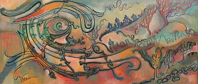 Art Print featuring the painting The Swirl by Valentina Plishchina