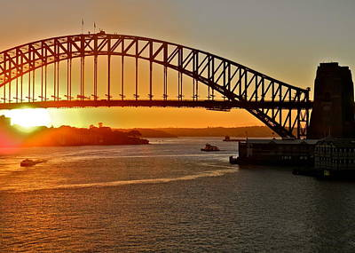 Photograph - The Sydney Harbor Bridge by Kirsten Giving