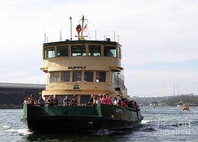 Photograph - The Sydney Harbour Ferry Supply by Joanne Kocwin