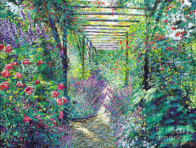 The Tangled Trellis Art Print by David Lloyd Glover