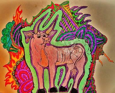 The Taurus Art Print by Ragdoll Washburn