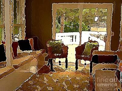 Digital Art - The Tea Room by Angela L Walker