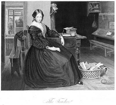 The Teacher. 1843 Art Print by Granger