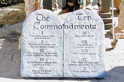 Photograph - The Ten Commandments Of God         by Terry Wallace