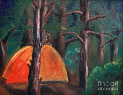 C&ing Tent Painting - The Tent by Cassandra Ronning & Camping Tent Paintings (Page #4 of 5) | Fine Art America