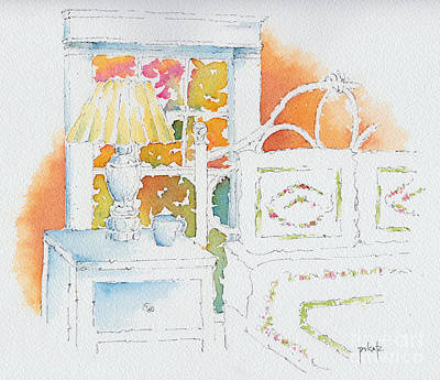 Pause Painting - The Terra Cotta Room by Pat Katz