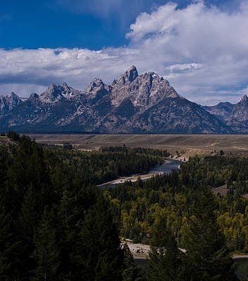 Photograph - The Tetons - Il by Larry Carr
