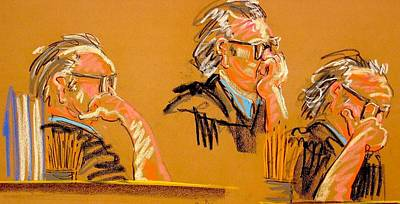 Painting - The Thinking Judge by Les Leffingwell