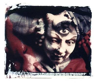 The Third Eye Polaroid Transfer Art Print by Jane Linders