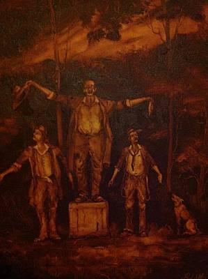 Paul Morgan Painting - The Three Bush Tenors by Paul Morgan