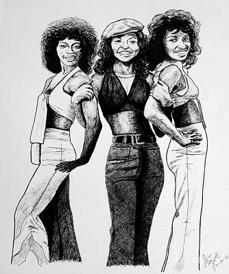 Drawing - The Three Degrees by Jim Fitzpatrick