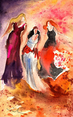 Paphos Painting - The Three Muses From Paphos by Miki De Goodaboom