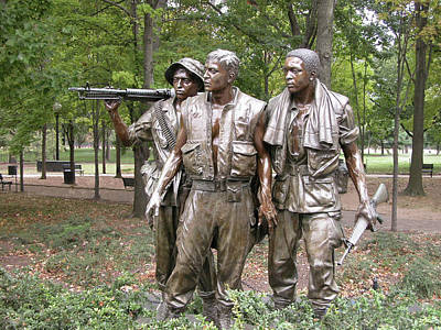 Photograph - The Three Servicemen by Guy Whiteley