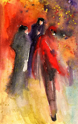 Paphos Painting - The Three Strangers From Paphos by Miki De Goodaboom