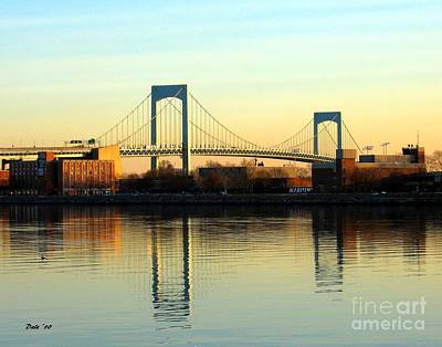 Digital Art - The Throggs Neck Bridge by Dale   Ford