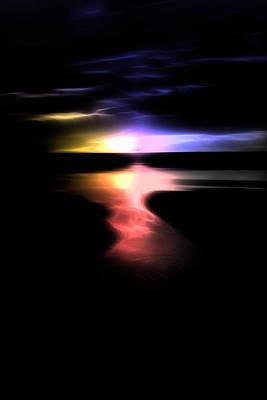Abstract Seascape Digital Art - The Tide Is Low by Steve K