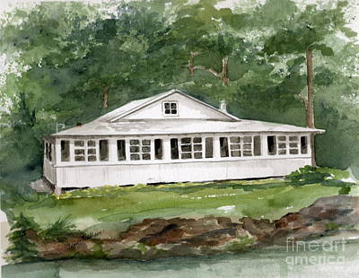 Painting - The Tidy Cottage  by Nancy Patterson