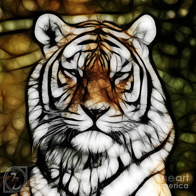 The Tiger Digital Art - The Tiger by The DigArtisT