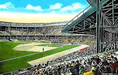 Painting - The Tigers' Navin Field In Detroit Mi In 1940 by Dwight Goss