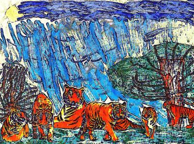 The Tigers Art Print by Odon Czintos