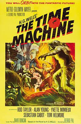 The Time Machine, Yvette Mimieux, Rod Art Print by Everett