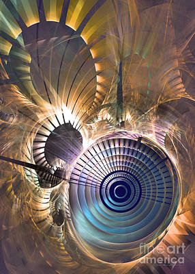 Digital Art - The Time -abstract Art by Sipo Liimatainen