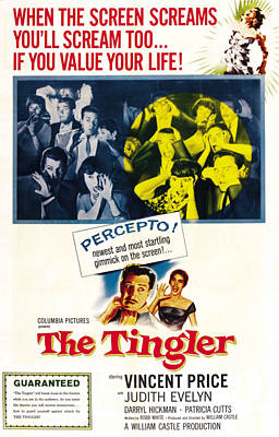 Horror Movies Photograph - The Tingler, Bottom Vincent Price by Everett
